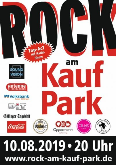Tour poster Rock am Kaufpark 2019 in Goettingen optimized for web